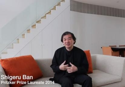 Video Pritzker Prize 2014: Shigeru Ban