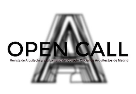 Open Call Convocatoria abierta de la revista del COAM