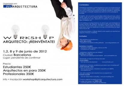 "Workshop ""Arquitecto: ¡Reinvéntate!"""
