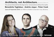 "¡Llega el primer evento ""Architects, not Architecture"" a Barcelona!"